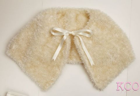 Fluffy Bolero Jacket Cream